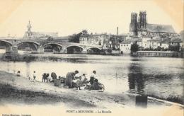 Pont à Mousson - Quartier Et Eglise St Saint-Martin, Pont De La Moselle - Lavandières - Edition Peltier-Maujean - Pont A Mousson