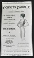 CADOLLE CORSETS 1915 INVENTEUR CORSELET GORGE CORSET SUR MESURE RUE CAMBON PARIS PUBLICITE ANCIENNE MODE AD FASHION - Pubblicitari