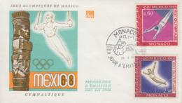 Enveloppe  FDC  1er  Jour  MONACO  Jeux  Olympiques  MEXICO   1968 - Summer 1968: Mexico City