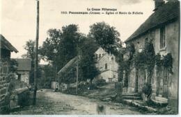 23 - Poussanges : Eglise Et Route De Felletin - Francia