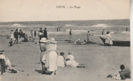 Hérault - SETE - CETTE - La Plage - Animée - Non écrite - Sete (Cette)
