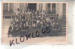 91 CARTE PHOTO - Du Groupe Centre D'Apprentissage D ' Arnouville Promotion 1945 -1946 ( 1ère Année )  Devant Les Marches - Angerville