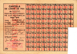 Romania, 1948-1949, Ration Tickets / Coupons For Firewood - RPR - Documentos Históricos