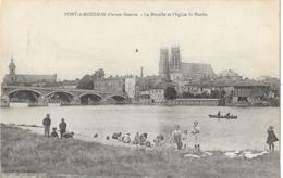 Pont à Mousson - Pont Sur La Moselle Et L'Eglise St Saint-Martin - Lavandières - Librairie Reboulet - Pont A Mousson