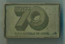 LINGOTTO ARGENTO 925 - 43 GR. BANCA NAZIONALE DEL LAVORO 70° ANNIVERSARIO FONDAZIONE - PROOF OSSIDO NATURALE NON PULITO - Italia