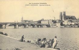 La Lorraine Illustré: Pont à Mousson - Quartier Et Eglise St Saint-Martin - Lavandières - Imprimeries Réunies - Pont A Mousson