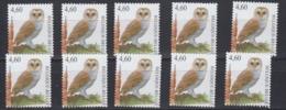 Belgie 2010 Kerkuil/Chouette Effraie - Buzin 1w (10x) ** Mnh (45249) @ 60% Of Face Value - Unused Stamps