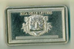 LINGOTTO ARGENTO 925 - 100 GR. CALENDARIO 1998 POSTE ITALIANE - BUCA DELLE LETTERE - PROOF OSSIDO NATURALE NON PULITO - Italia