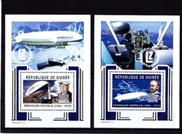 SPACE - Zeppelin - GUINEA - 2 S/S MNH - Spazio