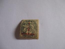 Timbre Type Blanc Surchargé 1/2 Centime Sur 1 Centime Gris 1919.Y & T N°157.Neuf. - 1900-29 Blanc