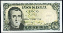 Ref. 228-362 - BIN SPAIN . 1951. 5 Pesetas 16th August 1951 - JAIME BALMES. 5 Pesetas 16 De Agosto 1951 - JAIME BALMES - 5 Pesetas