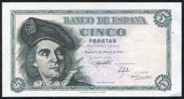 Ref. 118-400 - BIN SPAIN . 1948. 5 PESETAS 1948 - MADRID SN M. 5 PESETAS 1948  - MADRID SN M - [ 3] 1936-1975: Regime Van Franco