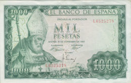 Ref. 243-422 - BIN SPAIN . 1965. 1000 Pesetas 19th November 1965 - San Isidoro. 1000 Pesetas 19 De Noviembre 1965 - San - [ 3] 1936-1975: Franco