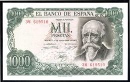 Ref. 244-463 - BIN SPAIN . 1971. 1000 PESETAS 1971 - JOSE ECHEGARAY. 1000 PESETAS 1971 - JOSE ECHEGARAY - [ 3] 1936-1975 : Régimen De Franco