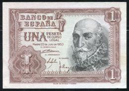 Ref. 405-701 - BIN SPAIN . 1953. 1 PESETA 1953 MARQUES DE SANTA CRUZ . 1 PESETA 1953 MARQUES DE SANTA CRUZ - [ 3] 1936-1975 : Régimen De Franco