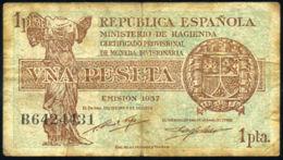 Ref. 406-729 - BIN SPAIN . 1937. 1 PESETA 1937 REPUBLIC. 1 PESETA 1937 REPUBLICA - [ 2] 1931-1936 : Republiek