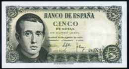 Ref. 228-735 - BIN SPAIN . 1951. 5 Pesetas 16th August 1951 - JAIME BALMES. 5 Pesetas 16 De Agosto 1951 - JAIME BALMES - 5 Pesetas