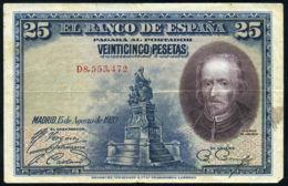 Ref. 412-736 - BIN SPAIN . 1928. 25 PESETAS 1928 BOAT PILOT WHALE. 25 PESETAS 1928 CALDERON DE LA BARCA - [ 1] …-1931 : Premiers Billets (Banco De España)