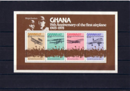 SPACE - Airplane - GHANA - S/S MNH - Spazio