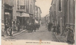 Hérault - SERVIAN - Rue Des Barys - Animée - France
