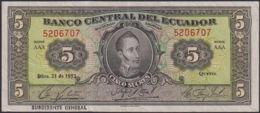 Ref. 820-1242 - BIN ECUADOR . 1953. ECUADOR 5 SUCRES 1953. ECUADOR 5 SUCRES 1953 - Ecuador