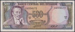Ref. 834-1256 - BIN ECUADOR . 1984. 500 SUCRES FROM ECUADOR 1984. 500 SUCRES DE ECUADOR 1984 - Ecuador