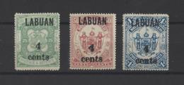 LABUAN Colonie Britanique. YT N° 101-102-103  Neuf *  1899 - Timbres