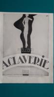Ancienne Pub Gaine ,corset,ceinture,soutien Gorge A.Claverie - Pubblicitari