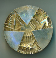 Medaglia Argento Centenario Banca D'Italia-1893-1993 Incisore Arnaldo Pomodoro Argento 986% Diametro 60 Mm - Peso 150 G - Italia