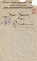 Env Notaire à Maintenon ( Fédé Nationale Des Combatants Volont Chartres ) - Autres Collections