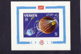 SPACE - Apollo - YEMEN - S/S Imp. MNH - Spazio