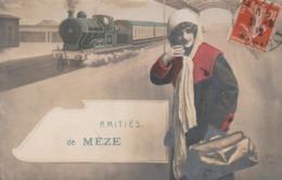 Hérault - Amitiés De MEZE - Train - Mèze
