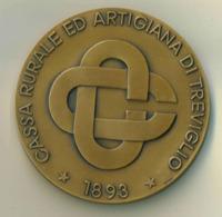 Medaglia Bronzo -1993 -  CASSA RURALE ED ARTIGIANA DI TREVIGLIO - Diametro 70 Mm - Peso 175 G - Other