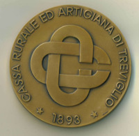 Medaglia Bronzo -1993 -  CASSA RURALE ED ARTIGIANA DI TREVIGLIO - Diametro 70 Mm - Peso 175 G - Italia