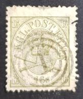 1864-1870 Royal Emblem, 16S, Danmark, Denmark, Danemark, *, ** Or Used - Usati