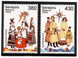 Belarus 2003 . Costumes 2003. 2v: 380, 430.  Michel # 492-93 - Bielorussia