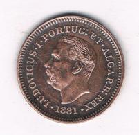 OITAVO  DE TANGA 1881  GOA  (mintage 12397 Ex??) INDIA /8749/ - India