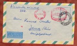 Luftpost, Postfreistempel, Porto Alegre Nach Jena 1961 (82210) - Brazilië