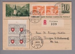 Schweiz GS Bildpostkarte Frutigen 1950-08-01 Mit Bild übereinstimmend - Postwaardestukken