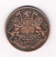 ONE QUARTER ANNA 1835 INDIA /8750/ - India