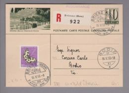 Schweiz GS Bildpostkarte Brienz 1953-05-16 Mit Bild übereinstimmend - Postwaardestukken