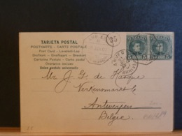 A11/789   CP  POUR LA BELG. 1907  AMB. - 1889-1931 Kingdom: Alphonse XIII