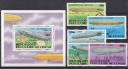 SPACE - Zeppelin - CONGO - S/S+Set MNH - Spazio