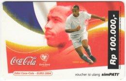 INDONESIA A-458 Prepaid SimPATI - Sport, Soccer, Advertising, Drink, Coca Cola - Used - Indonesien