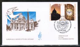 CEPT 2012 VA MI 1740-41 VATICAN FDC - Europa-CEPT