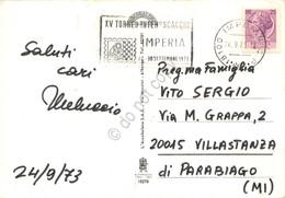 Cartolina Imperia Vedute Timbro A Targhetta XV Torneo Internaz Scacchi Imperia - Imperia