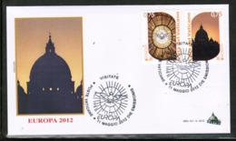 CEPT 2012 VA MI 1741-40 VATICAN FDC - 2012