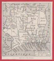 Carte De La Côte D'Ivoire. Larousse 1931. - Documents Historiques