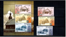 Belarus 2003 . Wooden Architectonics. 3v: 270, 430, 740 + S/S .  Michel # 499-501 +BL 36 - Bielorussia