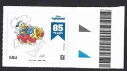 Italia, Italy, Italien, Italie 2019; Car Used By Donald Duck, Automobile Usata Da Paperino; Board Stamp. - Automobili
